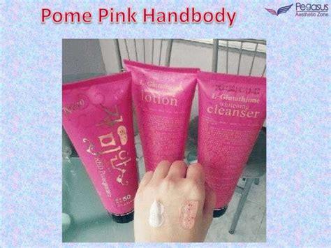 Pemutih Badan Korea pome pink handbody pemutih korea handbody pemutih badan