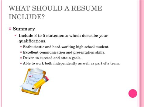 How To Make A High School Resume by Resume Writing High School