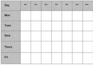Blank Revision Timetable Template by Revision Timetable Template Blank Calendar Template 2016