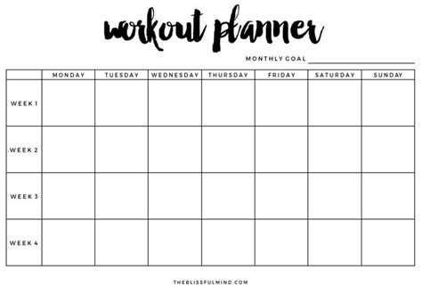 printable exercise organizer 17 best ideas about workout planner on pinterest