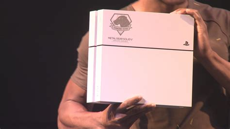 metal gear solid ps4 console white metal gear ps4 console revealed tgs 2014 ign