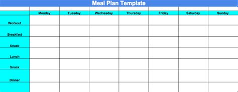 blank meal planner templates committed to get fit week 4 progress update and chalean