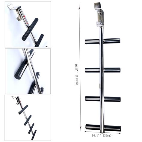 boat ladder brackets new style 4 step stainless transom diving ladder boat