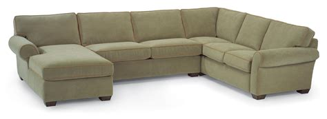 Flexsteel Sectional Sofa Flexsteel Vail Stationary Sectional Sofa With Left Side Chaise Olinde S Furniture Sectional