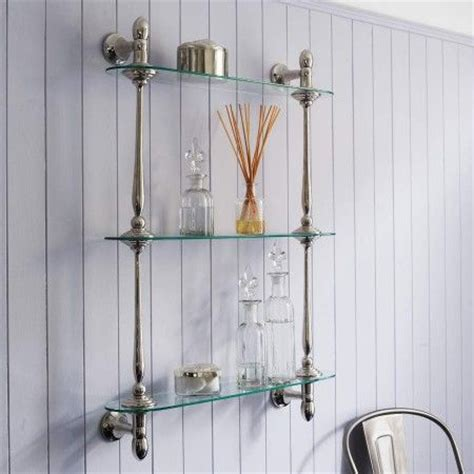 Glass Bathroom Shelves Chrome   WoodWorking Projects & Plans