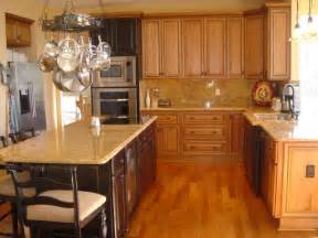 white granite with maple cabinets search