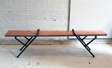 pipe bench diy pipe bench 9 24 2014 cool material