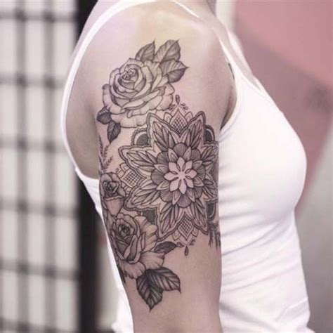 flower tattoo designs for upper arm best 25 arm tattoos ideas on back of