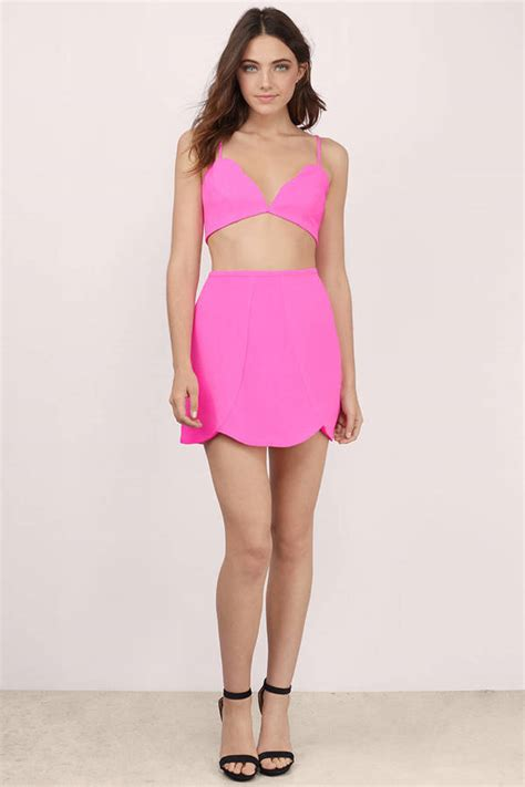 Dress Dress Tile Hitam Pink Black black dress 2 dress bubblegum black dress skater dress 12 tobi us