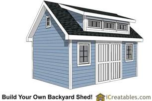 Traditional Home Floor Plans 10x16 Shed Plans With Dormer Icreatables Com