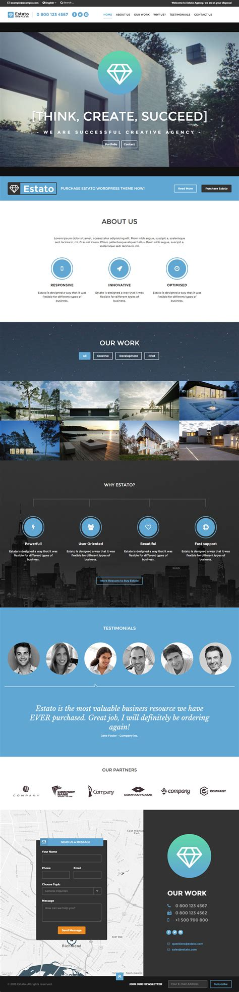 25 Best Real Estate Website Templates 2017 Responsive Miracle One Page Real Estate Website Templates