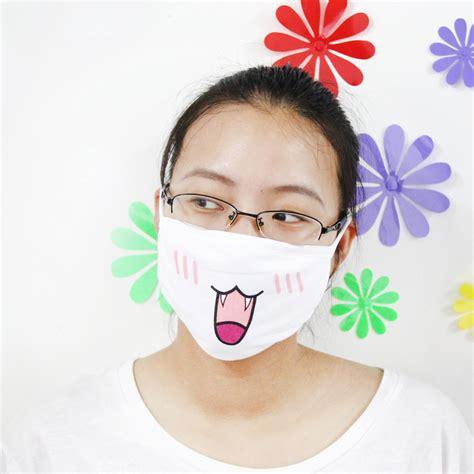 masker emoji lucu anti polusi udara model 1 white jakartanotebook