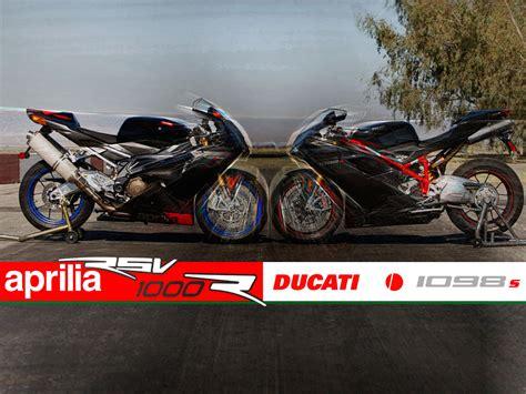 2007 Aprilia RSV1000R vs Ducati 1098S   Motorcycle USA