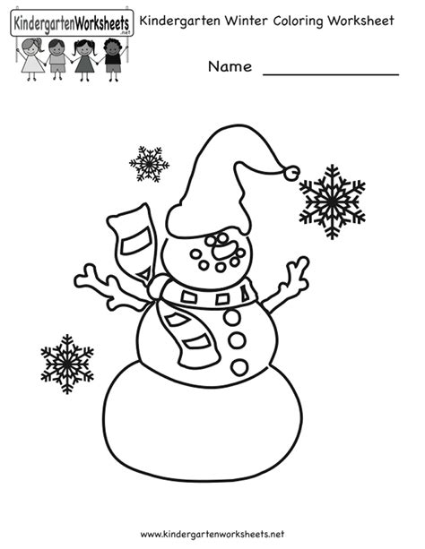 winter worksheets for kindergarten lesupercoin printables