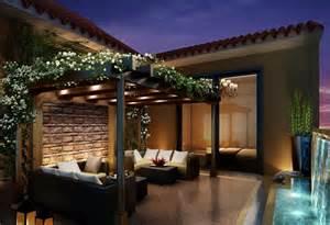 Villa green balcony download 3d house