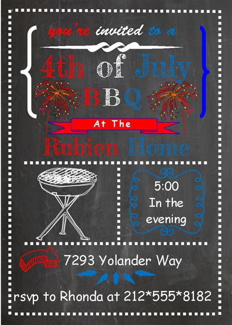 4th of july invitation templates 4th of july invitations theruntime