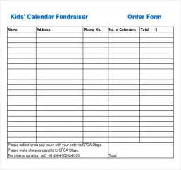 fundraising template 13 fundraiser order templates free sle exle