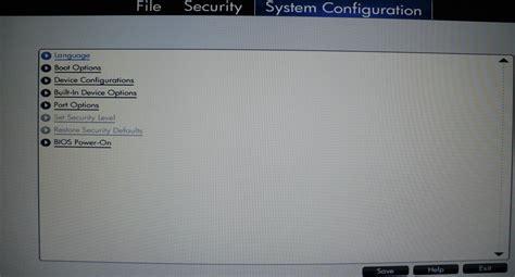 reset bios hp probook probook 6560b i5 2520 vt x bios hp support forum 876907
