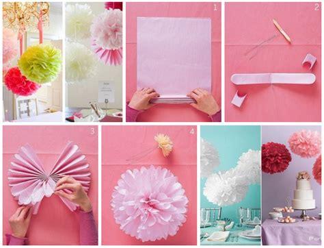 como decorar dulceros con papel china como hacer pompones de papel crepe paso a paso