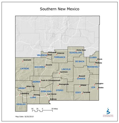 southern mexico map the economic benefits of southern new mexico s