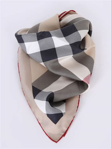 burberry check small silk scarf luxury bags