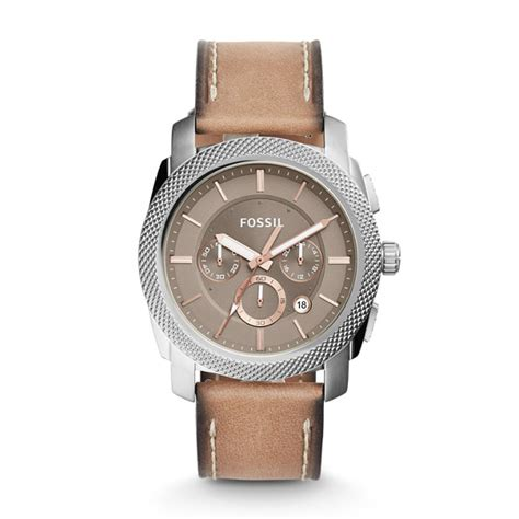 fossil 2258g light brown machine chronograph light brown leather fossil