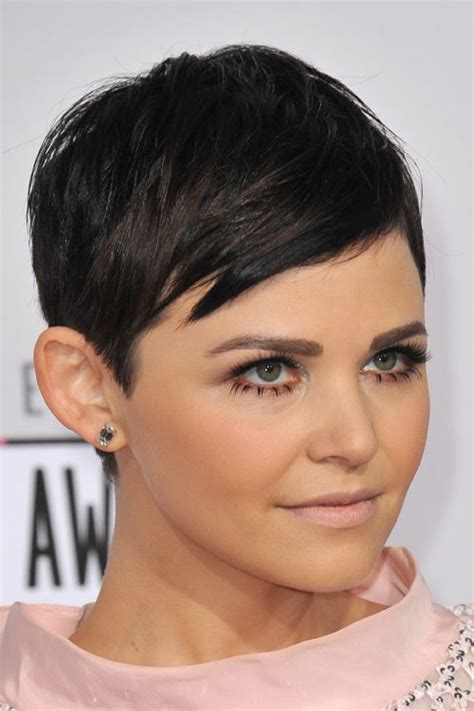 pixie cuts how to style a ginnifer goodwin pixie ginnifer goodwin straight black pixie cut hairstyle
