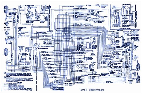 1959 chevrolet passenger wiring diagram schematic