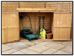 Recycle Office Furniture by Garage Storage Ideas For Lawn Mower Home Design Ideas