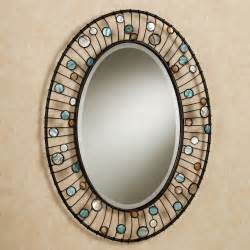 decorative bathroom wall mirrors capizia oval wall mirror