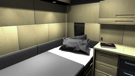 Truck Sleeper Interior by Self Installation Semi Truck Sleeper Interior On Behance