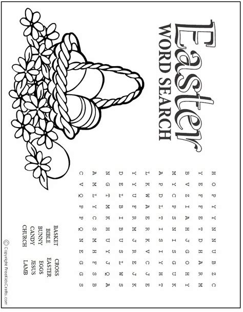 free printable easter word search worksheets easter word search