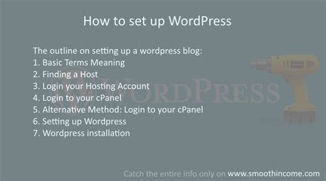 how to set up wordpress site install guide with pictures