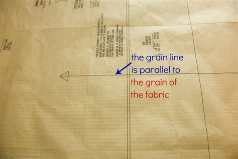 pattern grain line 5 tips to lay out pattern pieces for successful sewing