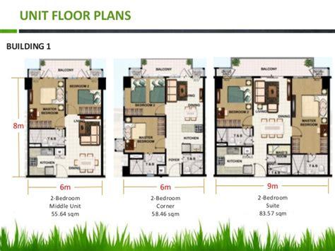 2 Bedroom Unit Floor Plans by Field Residences Condominium Near Airport