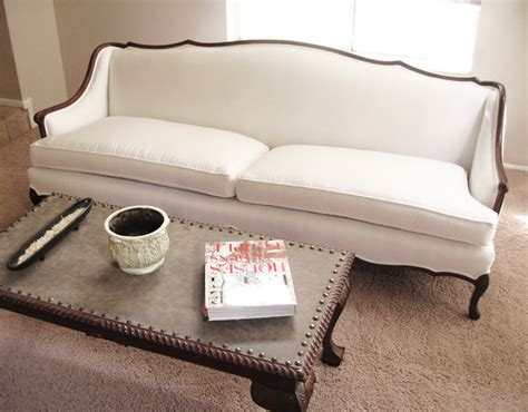 madebygirl provincial sofa re upholstered