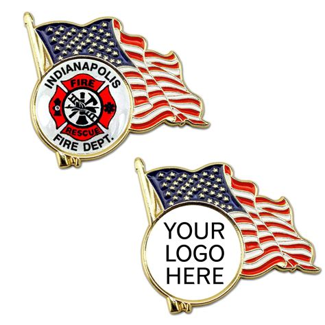 Wholesale Flag Logo Cheap Custom - american flag lapel pin with custom logo china wholesale