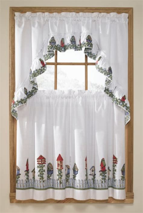 birdhouses curtains complete kitchen sets