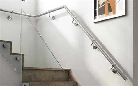 wall mounted metal handrails stair parts