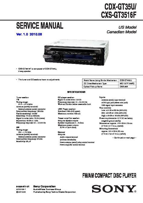 sony xplod cdx gt35u wiring diagram sony cdx gt35u wiring