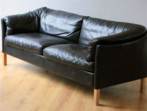 Settee Sofa by Black Leather Settee Stouby Two Columbia Roadtwo