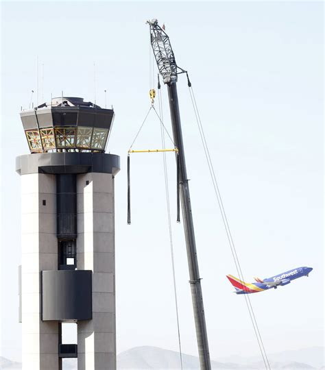 the new tower at mccarran gusty winds delay demolition of mccarran airport tower