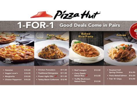Pizza Hut 1 For 1 Pizza Pasta Baked Rice More From Pizza Hut Buffet Cost