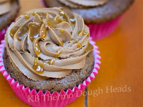Mars Salted Caramel chocolate mars bar cupcakes with peanut butter icing and