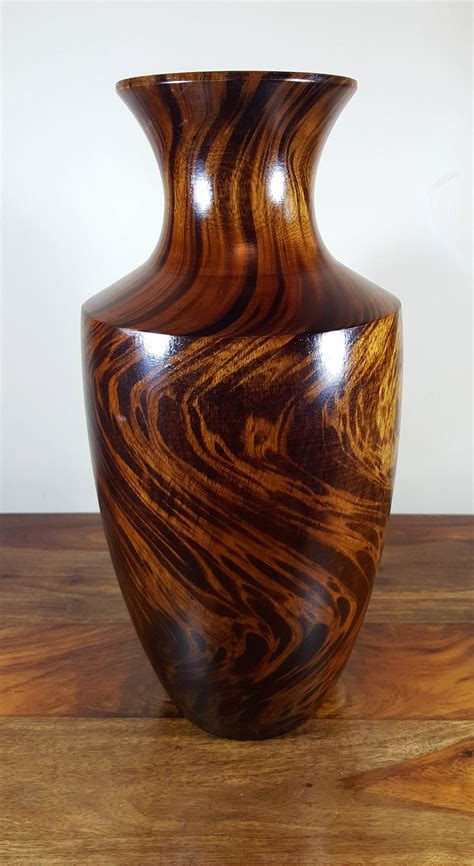 Urn Shaped Planters by Asianwoodcraft Home Decor Rustic Decrotive Vases Homeware