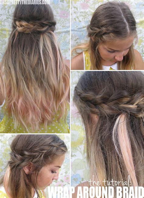 parting tutorial for braiding hair the tutorial selena gomez s wrap around braid
