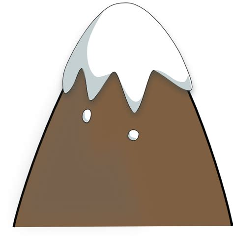 mountain clipart brown mountain clip at clker vector clip