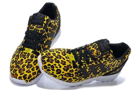 leopard athletic shoes fashionable adidas originals zx flux s athletic