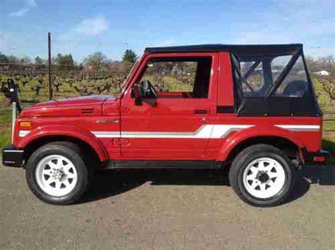 Suzuki Wrecker Purchase Used Show Condition Suzuki Samurai Jx 4x4