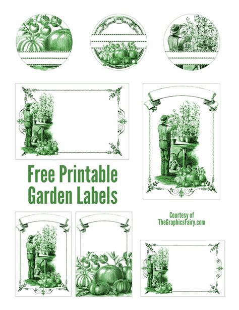 garden jar labels the graphics